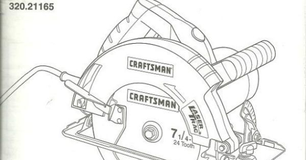 Owner's Manual Craftsman 7-1/4 inch Circular Saw Model 320