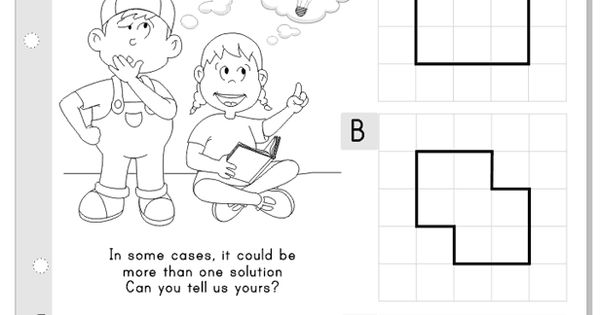 Shapes: split in half and... #puzzle to think #kids #math