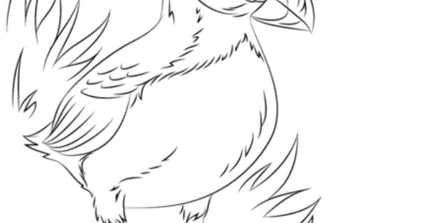 Atlantic Puffin Seabird Coloring page (North Pole
