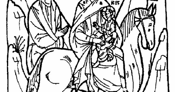 Theophany Coloring Page