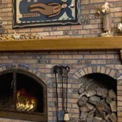 Log Cabin Living Room Decorating Ideas Furniture Arrangement Sectional Fireplace With Wood Box | Fireplaces: Raised Hearth Brick ...