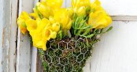DIY Floral Wall Sconces | Floral wall, Chicken wire and ...