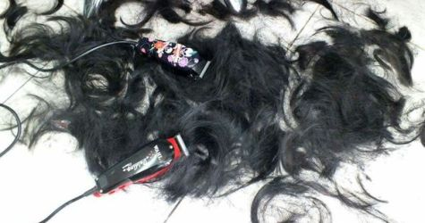 Image result for pile of hair on floor