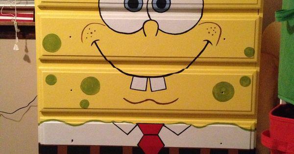 Spongebob dresser Bought unfinished Had a friend paint it for me  Furniture  Pinterest