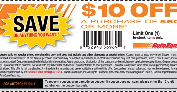 Autozone pritnable coupons  Printable Coupons  Pinterest  Printable coupons