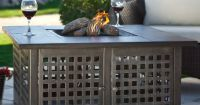 Uniflame Hand Crafted Tile Lp Gas Fire Pit With Free Cover ...