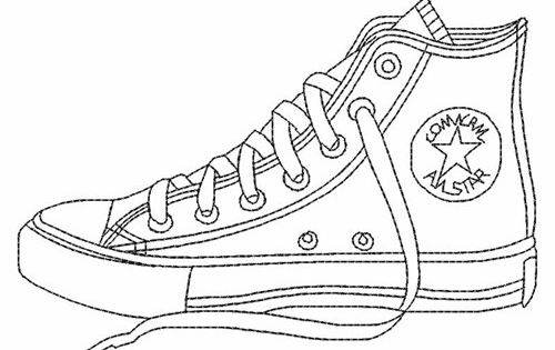 Blank Shoe Coloring Pages