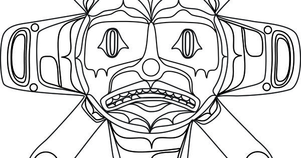 Summer Sun coloring book design. Northwest Coast First