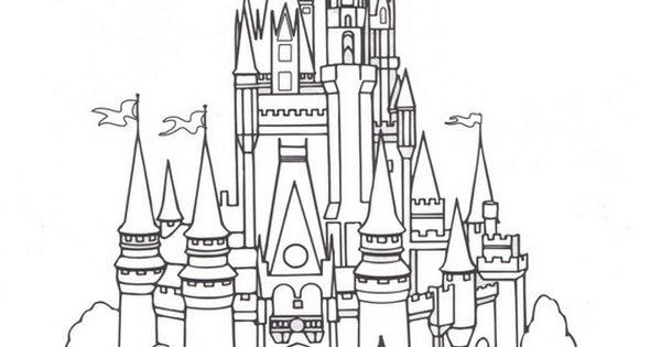 Cinderella castle coloring pages.jpg (567×764