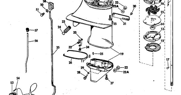 Johnson Gearcase Parts for 1976 6hp 6R76A Outboard Motor