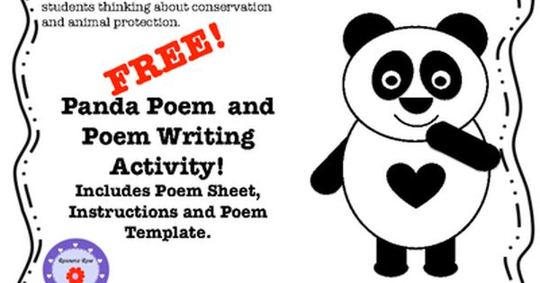 Panda Poem & Poetry Writing Activity from ResourceRose on