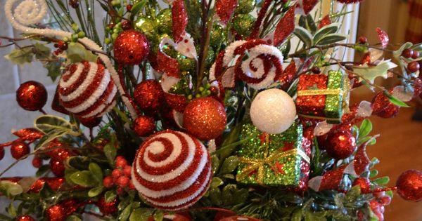 Whimsical Green Present Arrangement Christmas