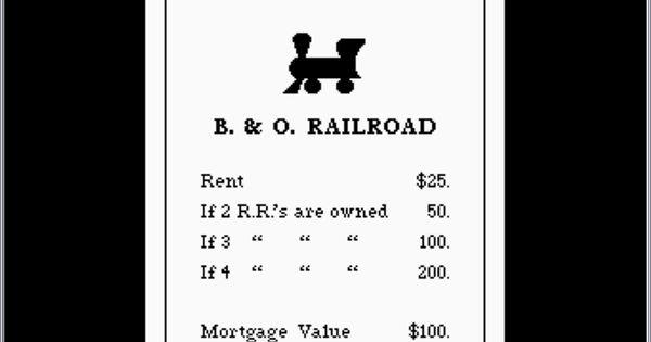 Monopoly Railroads Monopoly Railroad Monopoly Atari 8