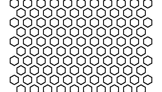 1/2 inch hexagon pattern. Use the printable outline for