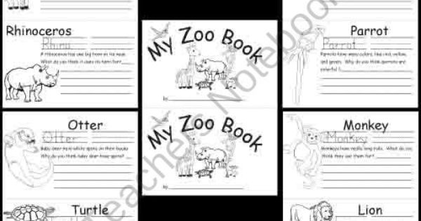Kindergarten Zoo Animal Worksheets product from