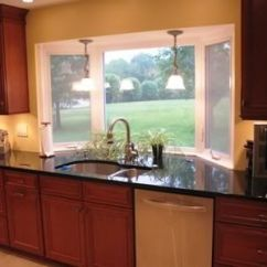 Kitchen Curtains For Bay Windows Task Lighting I Love How The Counter Goes Out With Window! Could Be ...