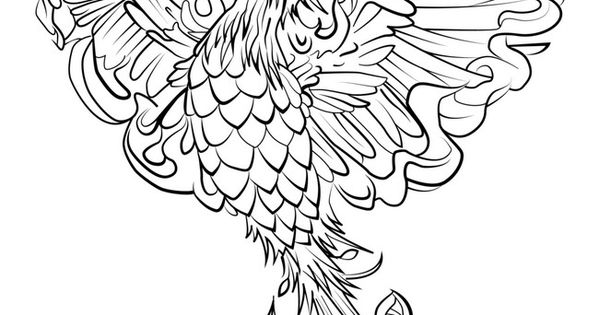 Phoenix Coloring In Page 8 By Darkly