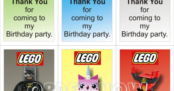 "Lego Movie ""Thank You For Coming To My Birthday Party"