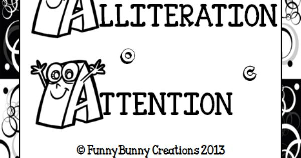FREE!! Pages to practice alliteration. http://www