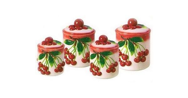 Cherry Kitchen Decor Theme  Ceramic Cherry Kitchen