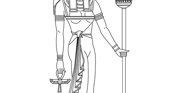 Sekhmet Egyptian goddess & gods Coloring Page (Fanny's