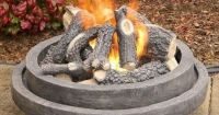 "Warming Trends 24SB6 24"" Ceramic Fire Pit Log Set  The"