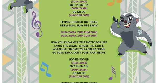 Zuka Zama lyrics  The Lion Guard  Pinterest  Lion and