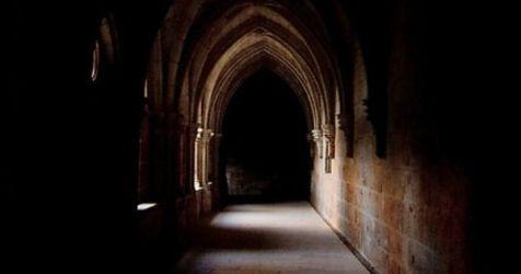 dark castle throne gothic corridor