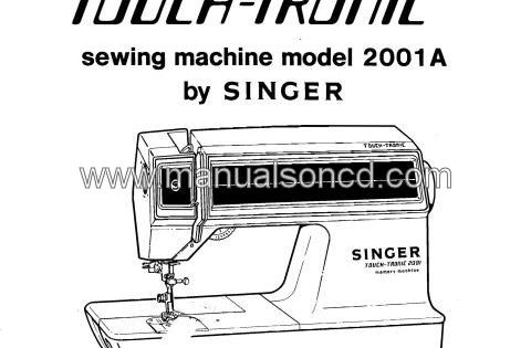 Singer Touch-Tronic 2001A Service And Repair Manual. 154