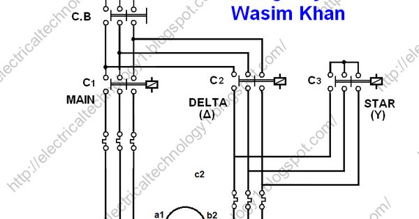 The Star-Delta (Y-Δ) 3-phase Motor Starting Method by