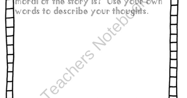 FREE Worksheet: What is the Moral of the Story? (writing