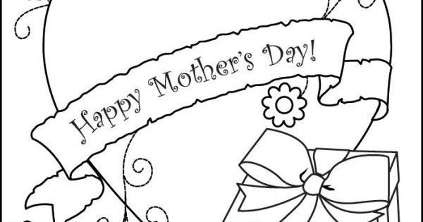 Free Printable Mothers Day Card To Color Free Printable