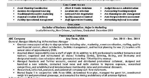 Event Planner Resume Example  Resume examples Planners and Job search