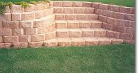 retaining wall stairs with blocks as steps   Stairs ...