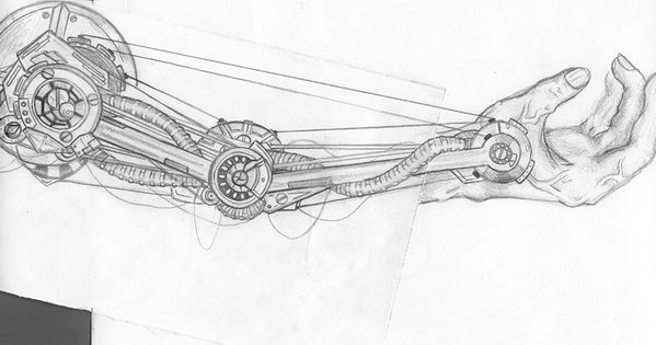 mechanical arm IP3 by guitarRomantic.deviantart.com on
