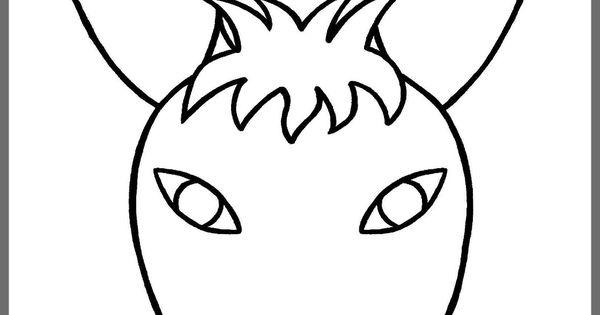 Tête d'un âne pour fabriquer l'âne de Saint Nicolas