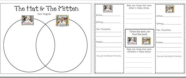 gingerbread venn diagram 06 chevy silverado stereo wiring mitten activities: free activity comparing the story by jan brett with ...
