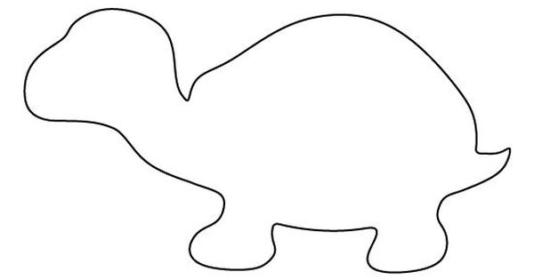 Turtle pattern. Use the printable outline for crafts