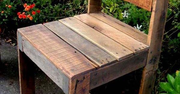 DIY Pallet Outdoor Armless #Chair