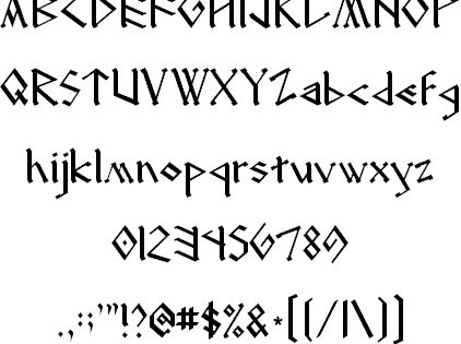 The font I used for the Dragon Manuals! FINALLY found it