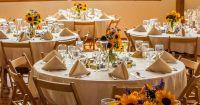 Wedding reception sunflower table setting at Sleepy Hollow ...