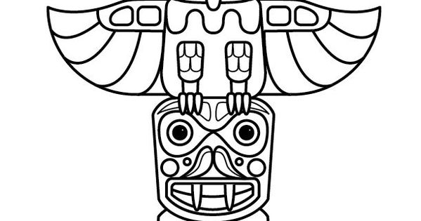 Totem poles, Totems and Coloring pages on Pinterest