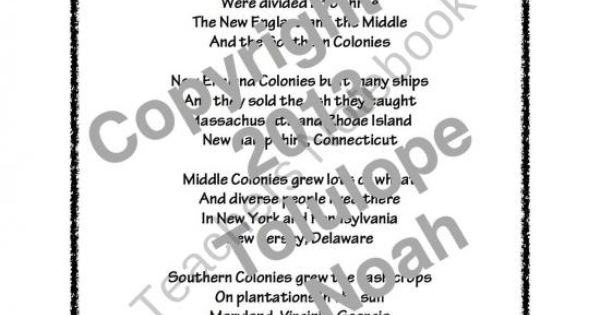 The Thirteen Colonies Song product from Dr Noahs Shop on
