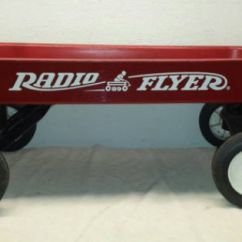 Antique Folding Chair White Office Chairs Staples Radio Flyer Wagon Red Metal Vintage Model 89 34