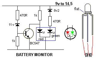 BATTERY MONITOR A very simple battery monitor can be made