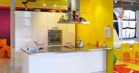 Contemporary Art Collectors Dynamic Colorful Loft #