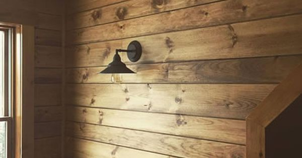 decorating ideas living room walls furniture color white_pine_shiplap_paneling_custom_stained_rustic | ...