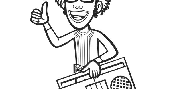 #DJLance Coloring Sheet #yogabbagabba #coloringsheet #