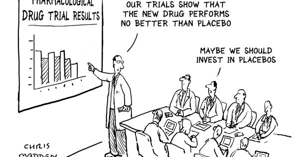 Placebo Effect Cartoon Things we do when we are meant to