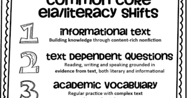 Common Core Readiness Anchor Standards and ELA Shifts